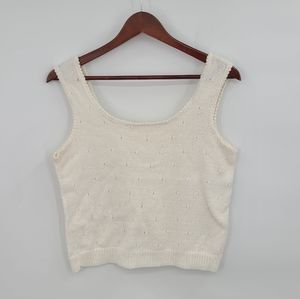 Retro Knitted Crop Tank